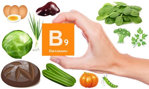 У яких продуктах міститься вітамін В9